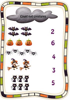 Halloween worksheet 1