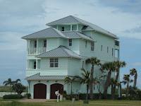 Grandes casas en la isla