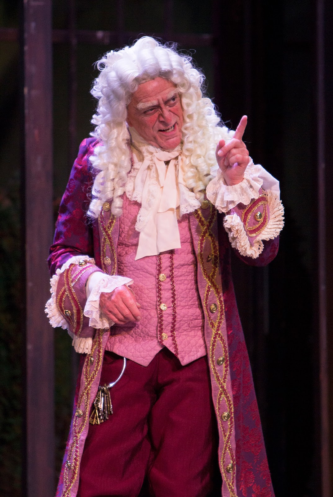 IN PERFORMANCE: bass-baritone DONALD HARTMANN as Bartolo in Greensboro Opera's production of Gioachino Rossini's IL BARBIERE DI SIVIGLIA, January 2018 [Photo by Star Path Images, © by Greensboro Opera]