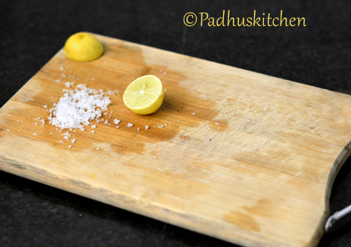 how to disinfect and clean a chopping board