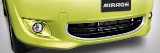 FRONT BUMPER WITH CHROME GARNISH mirage 2014