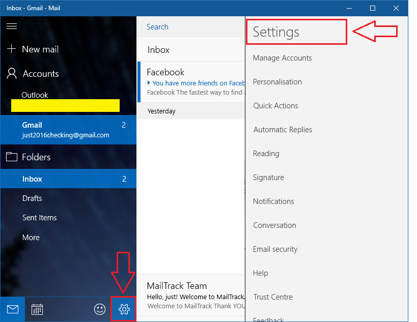 Email app accounts settings download lengkap for Acc email