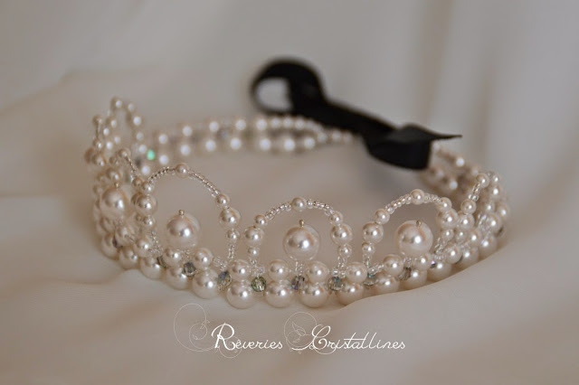 couronne mariage perles