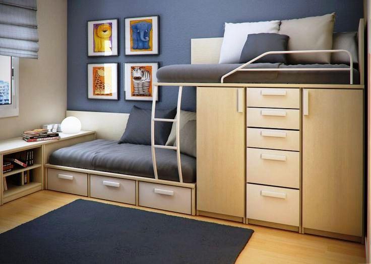 Model Tempat Tidur Tingkat untuk Kamar Tidur Ukuran 3x4