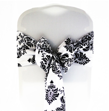 Black and White Damask Sash €1