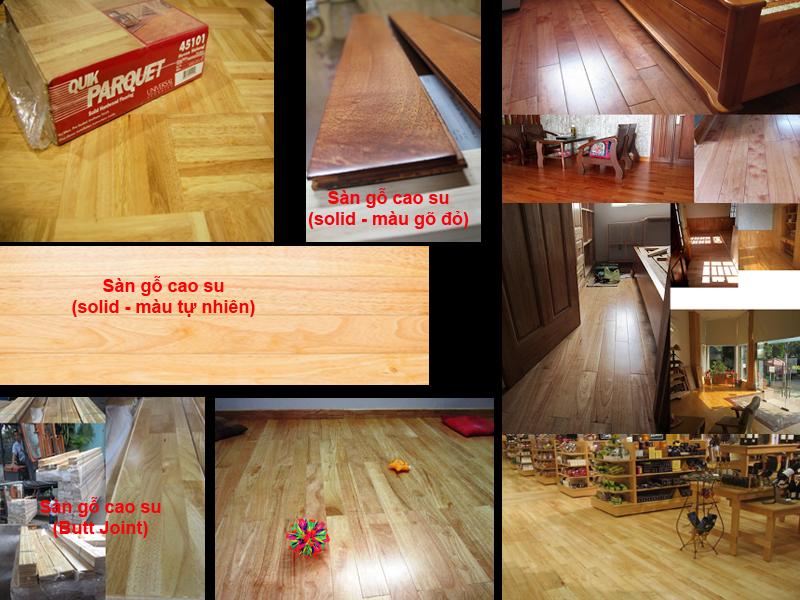 Sàn gỗ cao su