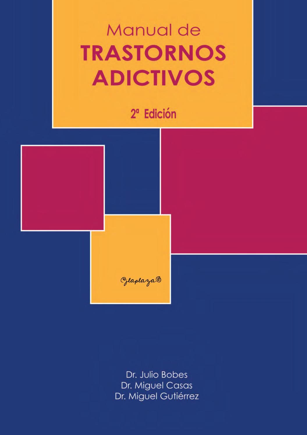 Manual de trastornos adictivos, 2da Edición – Julio Bobes