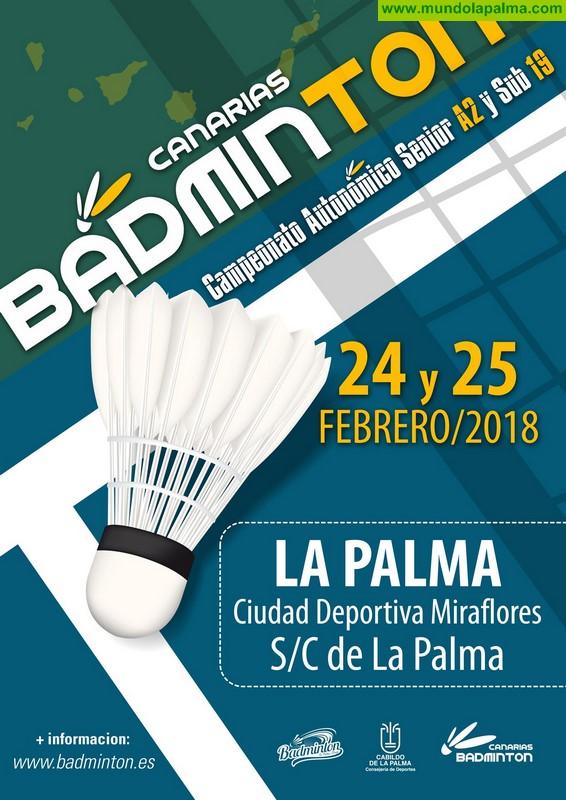 Más de 60 deportistas competirán en el Campeonato de Canarias de Bádminton a disputar en La Palma