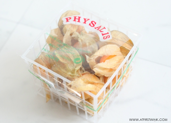 basket of physalis (cape goose berries)