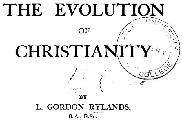 Gesù non è mai esistito storicamente: Sull'Evoluzione del