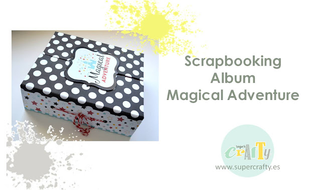Scrapbooking album magical adventure