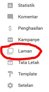 menu laman blogger