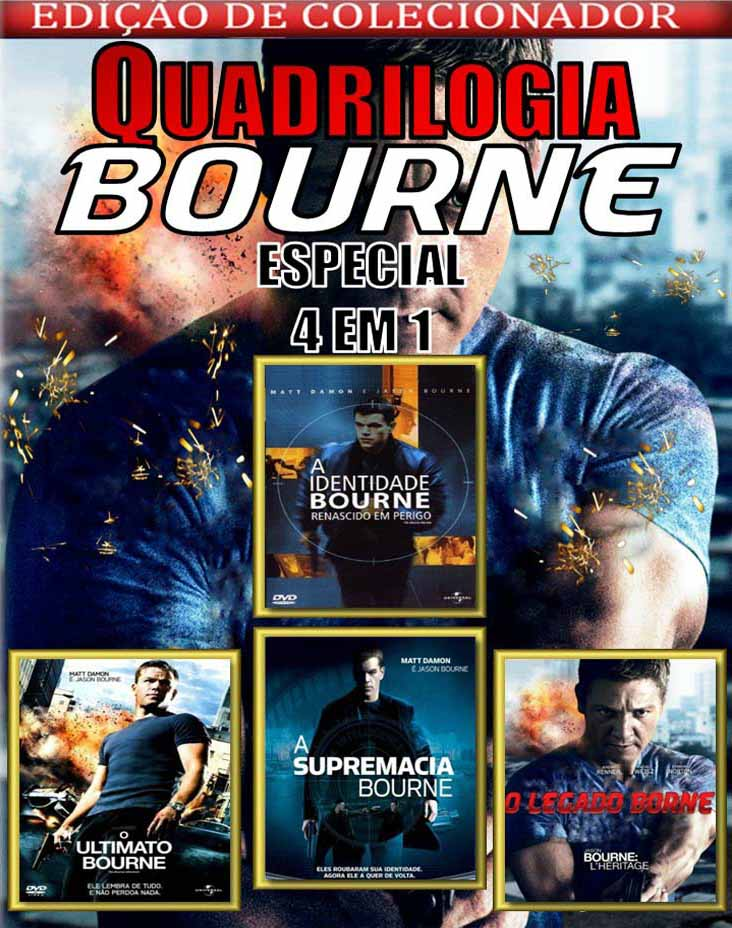 Quadrilogia Bourne Torrent – Blu-ray Rip 1080p Dublado (2002-2012)