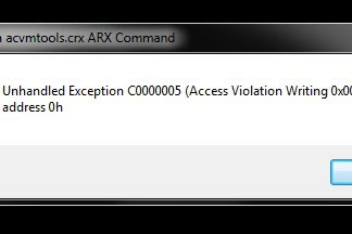 Cara mengatasi error exception in acvmtools.crx ARX Command pada Autocad civil 3d