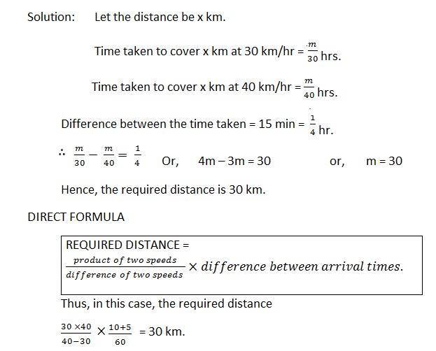 time and distance 5