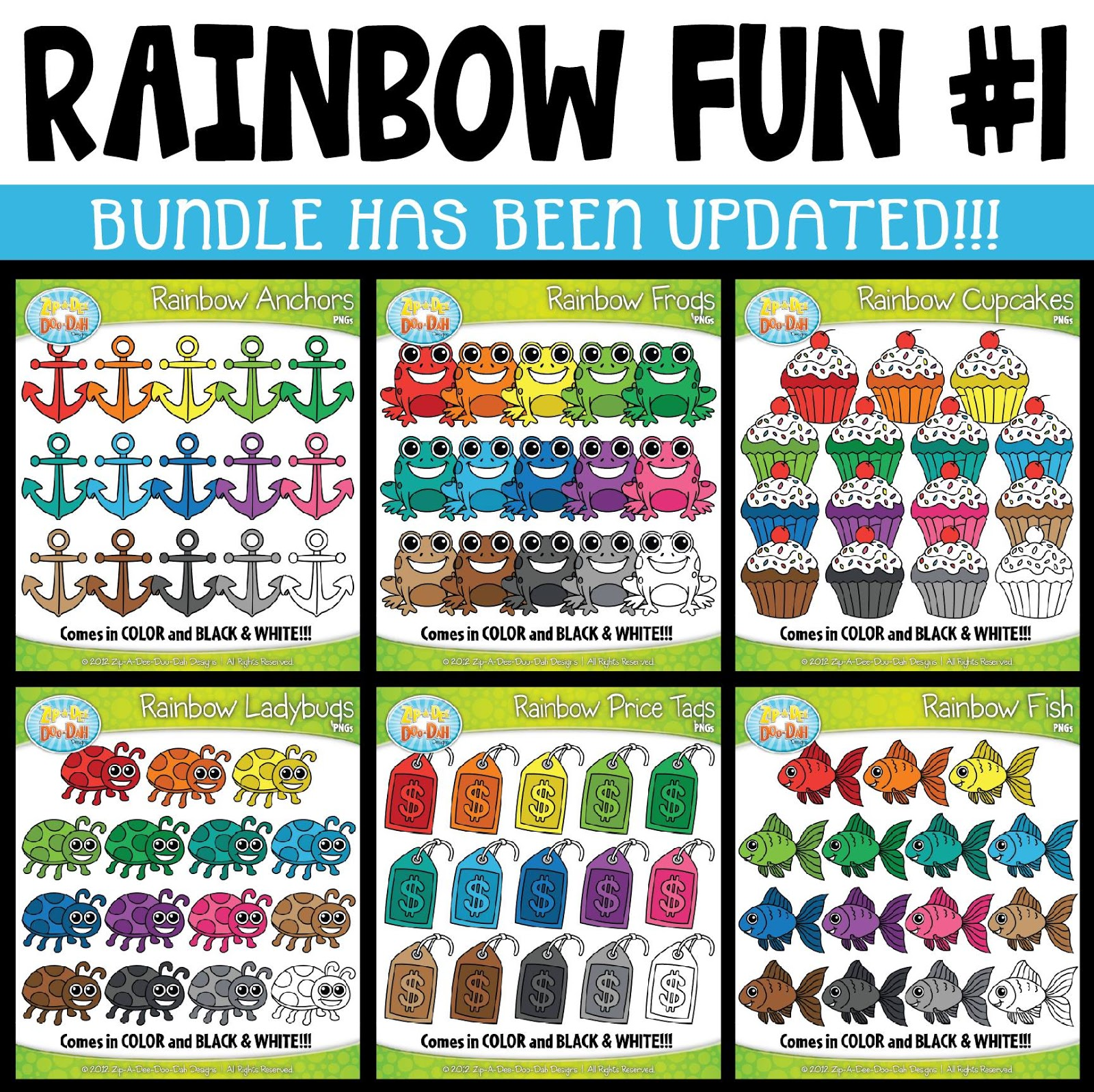 small resolution of rainbow fun clipart collection 1 has been updated all graphics for july august have been added if you have not seen this growing clipart bundle yet