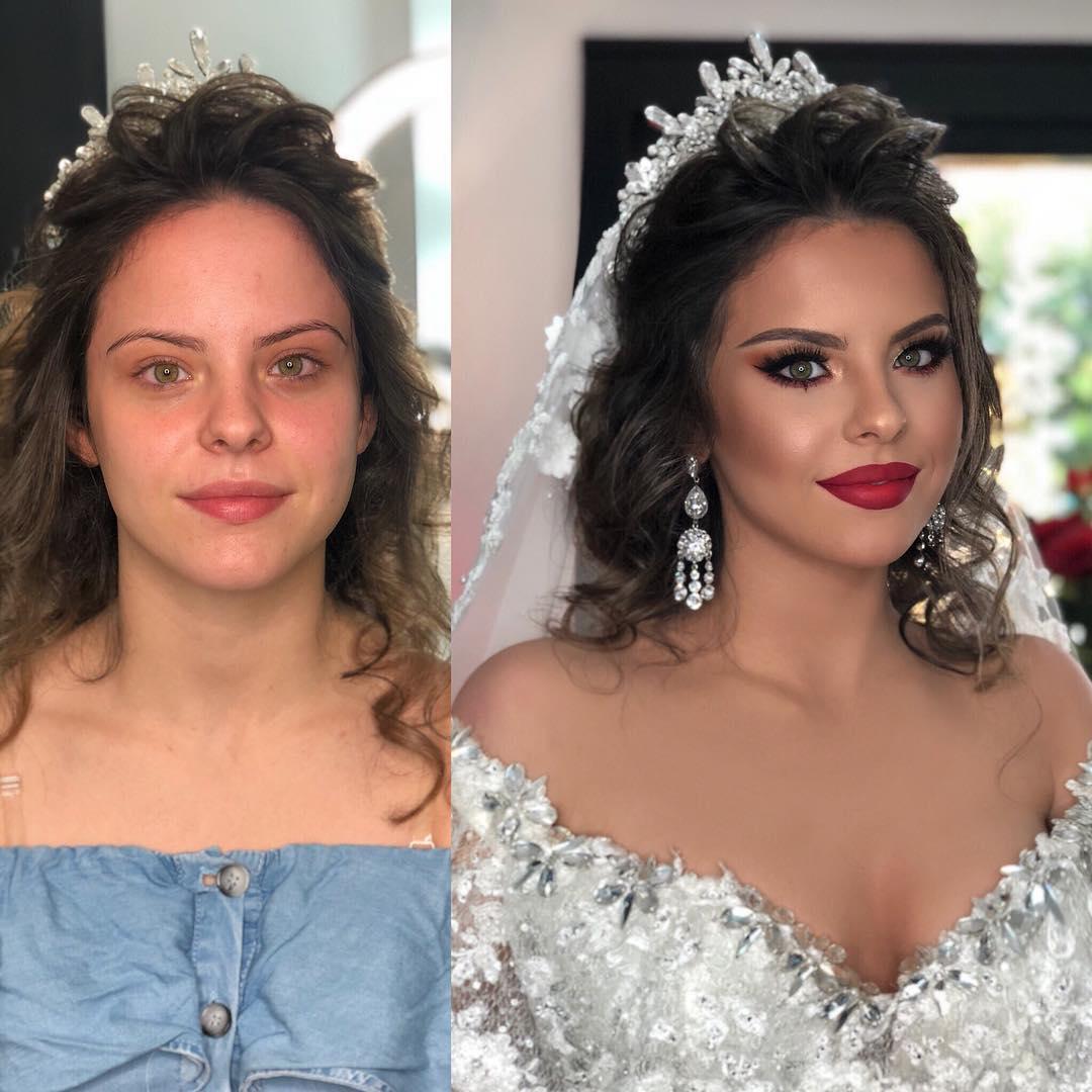 Невесты До и После Макияжа