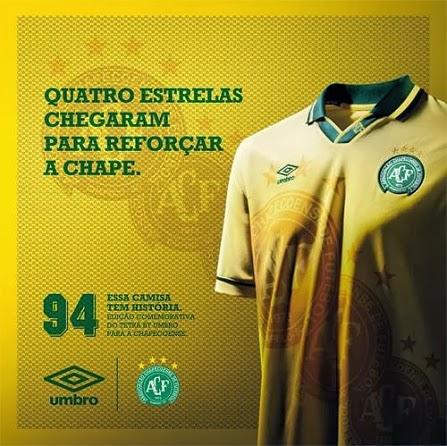 42f184c95b Chapecoense apresenta terceira camisa em homenagem a Seleção ...