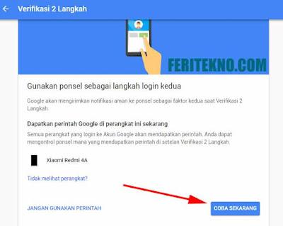 cara membuat ketika login akun gmail membutuhkan kode unik di hp untuk verifikasi 5