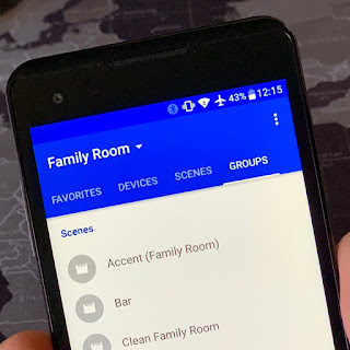 Homeboy app shows a user's Family Room group
