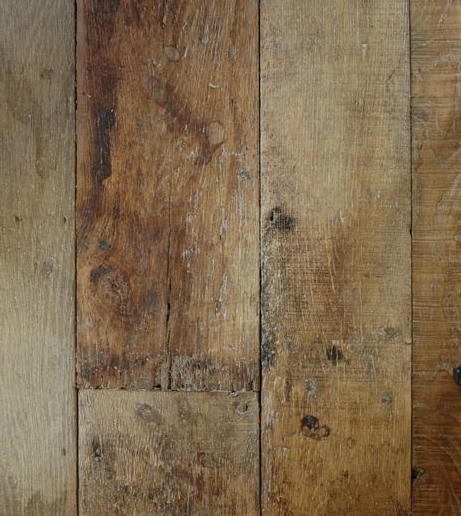 Reclaimed wood flooring via Chateau Domingue as seen on linenandlavender.net