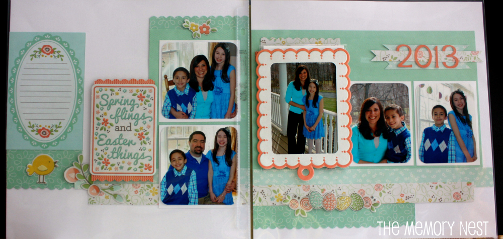 The Memory Nest Pinterest Inspired Friday Scrapbook Layout