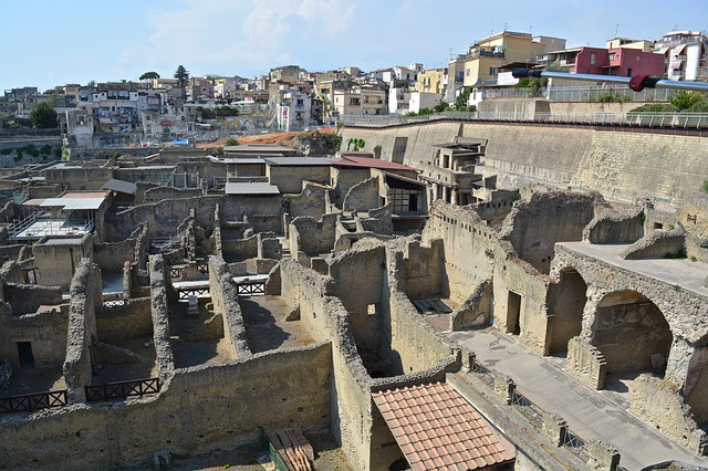 remnants of Herculaneum Naples,Herculaneum, History, Naples, Tourist attractions, Tourism, Italy, Sea Castle, Beaches, Castle,