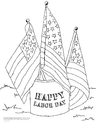 labor day coloring book pages | Free labor day coloring pages for kids | Best Holiday Pictures