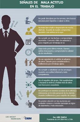 Señales de mala actitud en el trabajo
