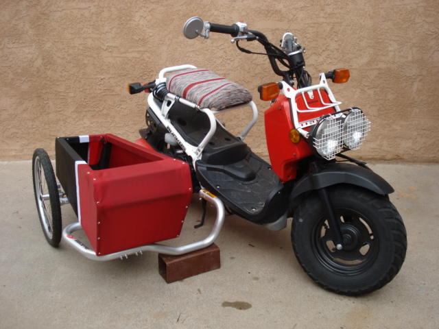 motorcycle 74 scooter sidecar dog home made. Black Bedroom Furniture Sets. Home Design Ideas