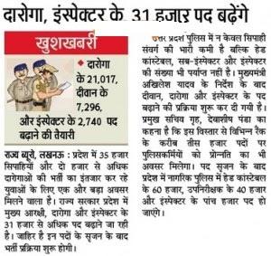UP Police Daroga Vacancies