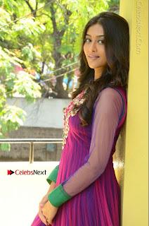 Actress Pooja Jhaveri Latest Stills in Purple Salwar Kameezt at Dwaraka Success Meet  0119.JPG