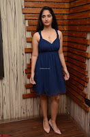 Radhika Mehrotra in a Deep neck Sleeveless Blue Dress at Mirchi Music Awards South 2017 ~  Exclusive Celebrities Galleries 081.jpg