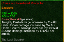 naruto castle defense 6.9 Last Sasuke Cross out Forehead Protector detail