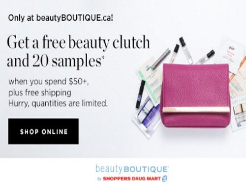 Beauty Boutique Free Beauty Clutch + 20 Samples