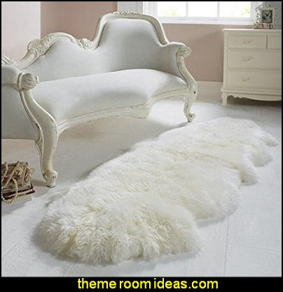 Sheepskin Rug Double Pelt Ivory White Fur