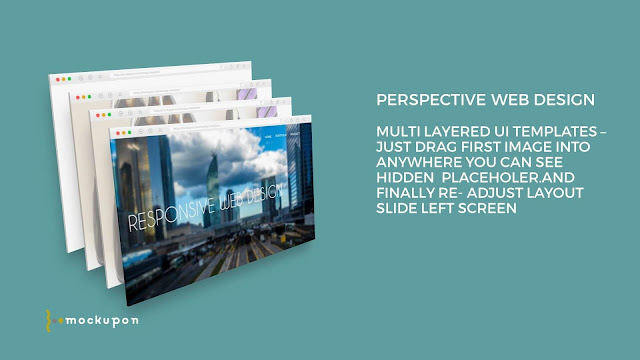 Powerpoint Web UI 4 Screen Mockup Templates