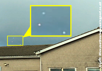 UFO Spotted Over Swansea in Convincing Video 10-11-14