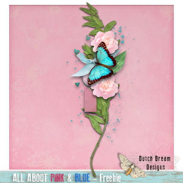 FREEBIE...ALL ABOUT PINK & BLUE - DUTCH DREAM DESIGNS
