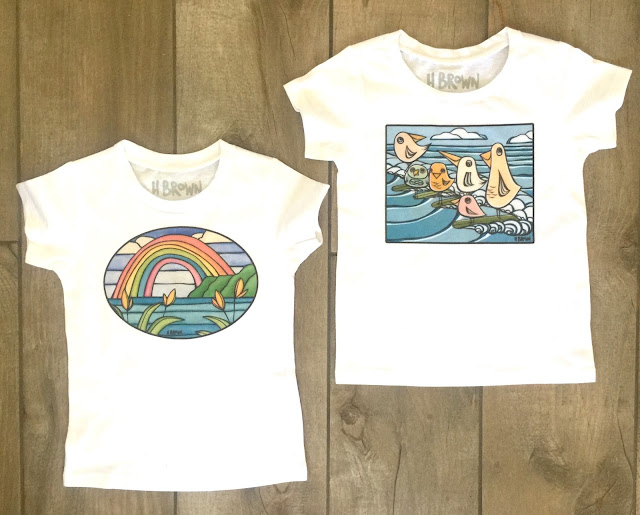 fun surf inspired kids tee shirt