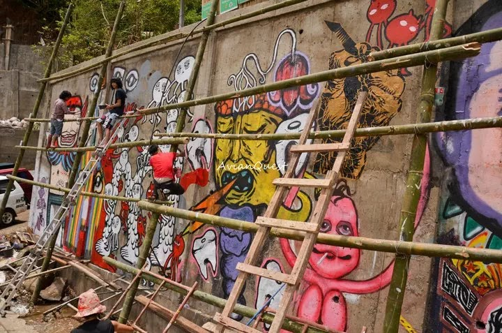 Tamawan Village Making of a Graffitti Mural Baguio City Philippines 68