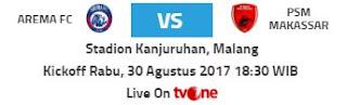 Arema vs PSM Makassar