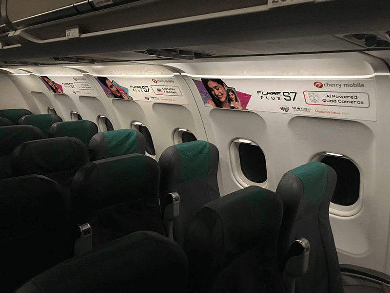 Pacific lay downwardly crusade materials for the  Cherry Mobile partners alongside Cebu Pacific to marketplace set the Flare S7 series