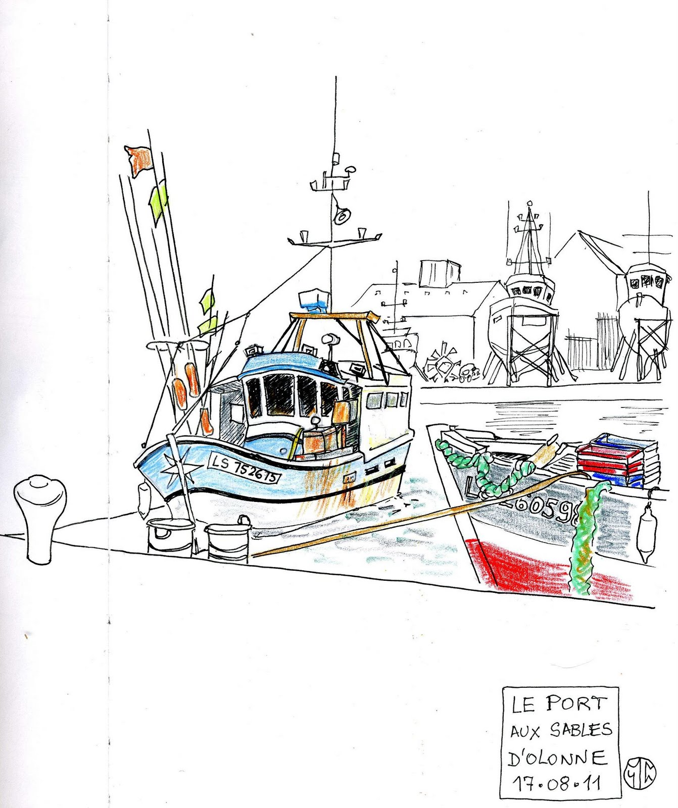 Urban Sketchers Paris: De Retour de Vendée