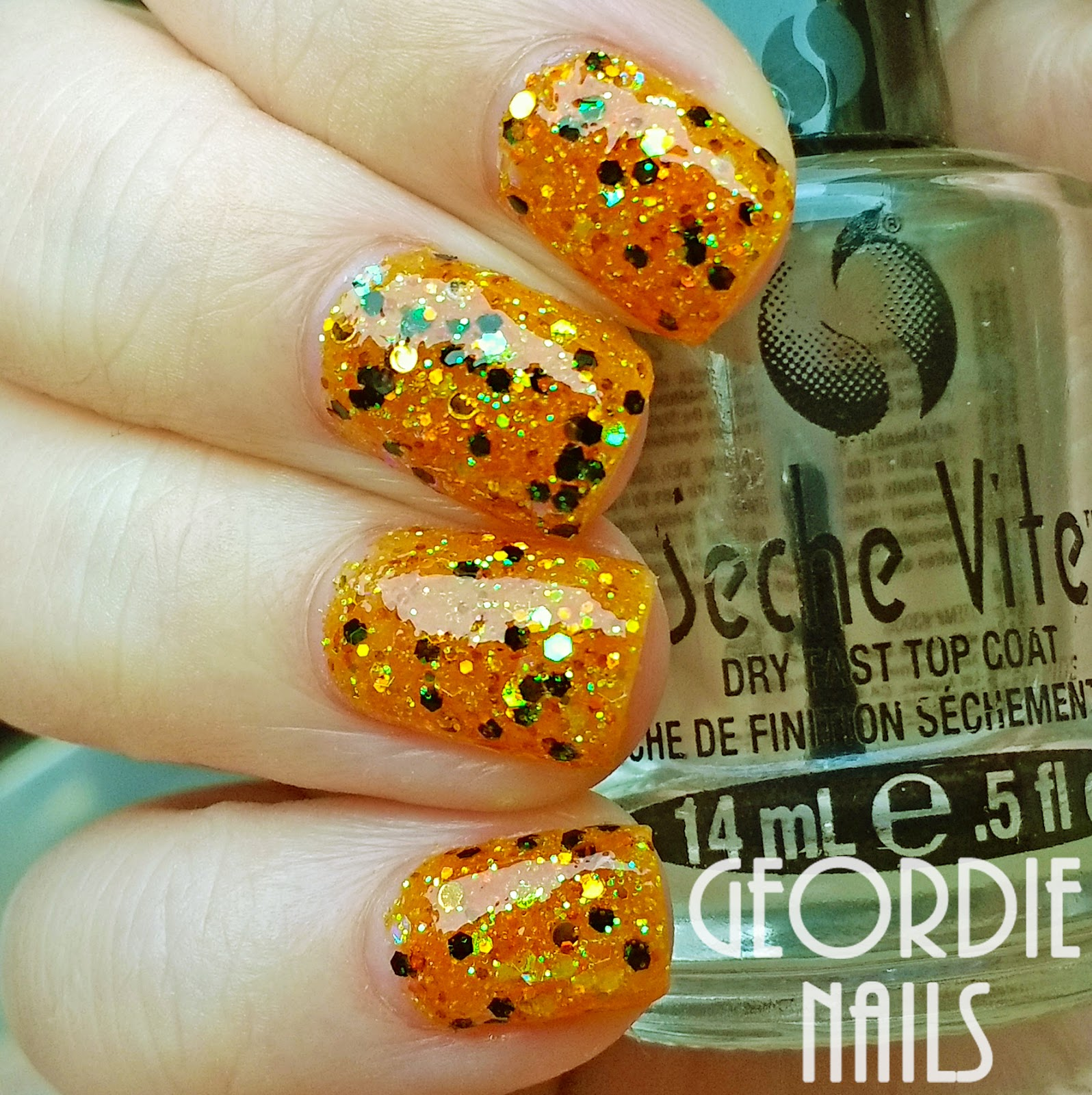 Geordie Nails: Charlies Nail Art ~ Jack o Lantern Glitter Mix