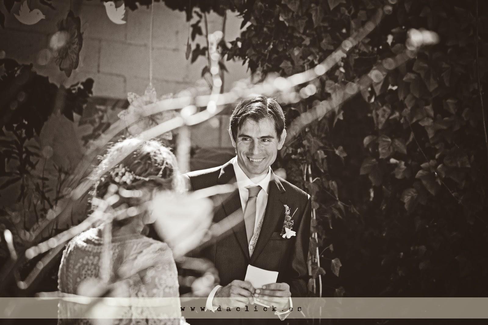 el novio le dedica unas palabra a la novia