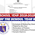 K to 12 EOSY Rites for School Year 2018-2019
