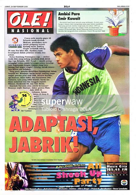 PIALA ASIA 2000 SEPAKBOLA NUR'ALIM INDONESIA