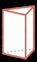 立体のイラスト(三角柱)