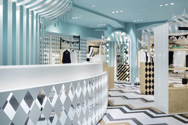 Green Pear Diaries, interiorismo, retail, Key to Style, Seibu, Shibuya, Tokio, Nendo